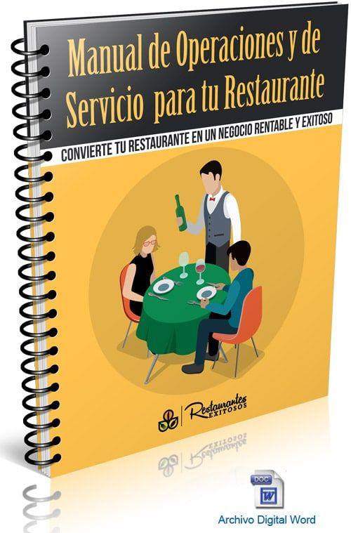 Manual De Operaciones Para Tu Restaurante Marketing Para Restaurantes Restaurantes Operacion