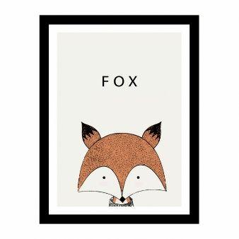 Nette Hand gezeichnete Fuchs Design