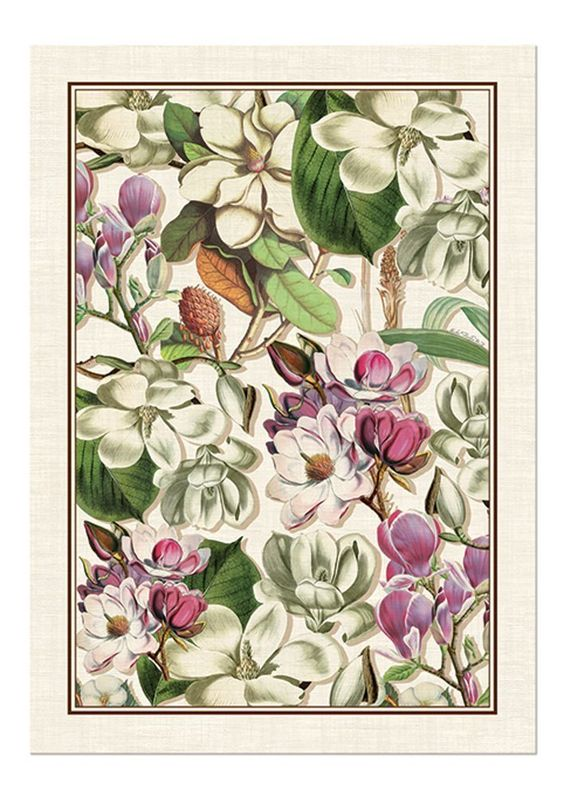Amazon.com - Michel Design Works Magnolia Cotton Kitchen Towel ...