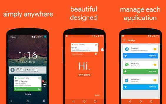 Notifly es una aplicación gratuita, para los dispositivos con Android, que ofrece notificaciones a modo de burbujas flotantes para WhatsApp y Telegram.