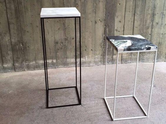 Beistelltisch aus beschichtetem Metall TALINO by FILODESIGN di Michela Gerlo