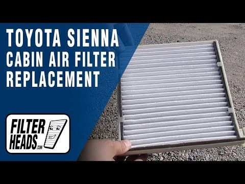 Pin On Toyota Cabin Air Filter Replacement Videos