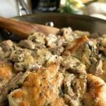 Chicken Breasts with Mushroom and Onion Dijon Sauce #recipe #love