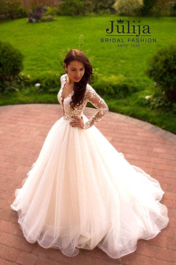 Exclusive luxury wedding dress 2016.Lace princess by JulijaWedding