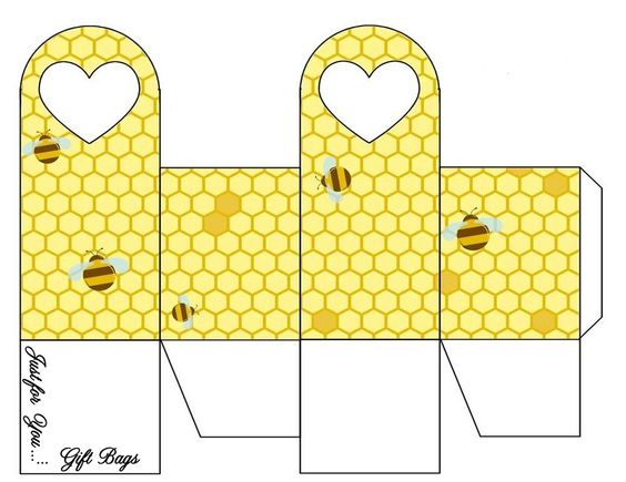 Bee Heart Gift Bag .... free to use & free to share .... <3