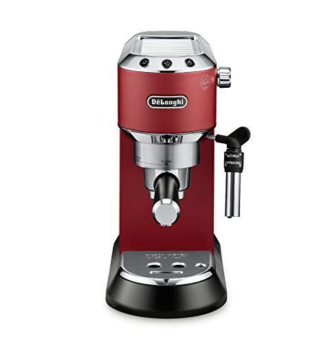 Delonghi America Dedica Deluxe 15 Bar Pump Espresso Machine Red Sale Espresso Machines Shop Buymorecoffee Com