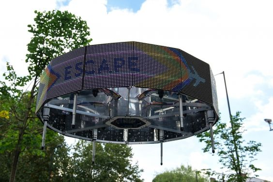 superflux _ madison, the flying billboard (drone aviary)