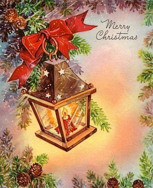 Cartes anciennes de Noël- Bougie et lumière | Cartes de noel anciennes,  Cartes de noël vintage, Noel