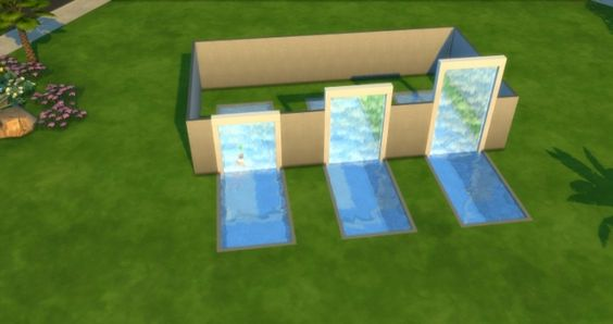 Spa Day (GP) Waterfall override by 0-Positiv at TSR • Sims 4 Updates