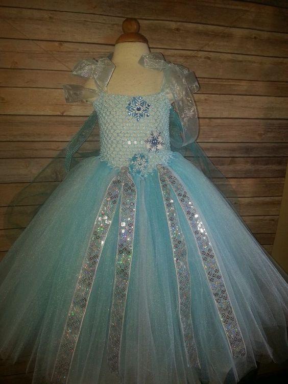 Frozen Elsa tutu dress headband, 2yr - 4yr by Beautiful Bree Bree's Tutus: