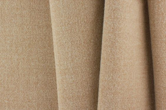 Designer Camel Stretch Wool Coating (Made in Italy)