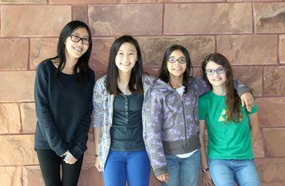 Junior-high girls share coding knowledge through MOOC