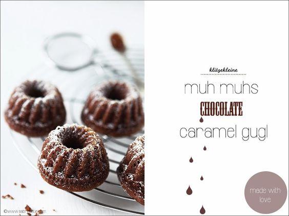 Klitzekleine chocolate caramel gugl mit leckerem Karamell. Das Rezept ist super einfach und unwiderstehlich im Geschmack.