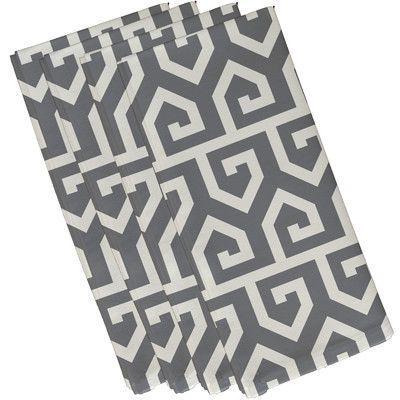 "e by design Keyed Up Geometric Print Napkin Size: 19""H x 19""W, Color:"