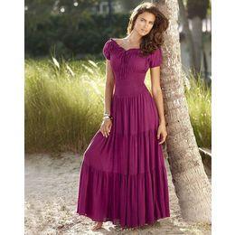 Peasant Clothing for Women - Newport News Womens Smocked Gauze ...