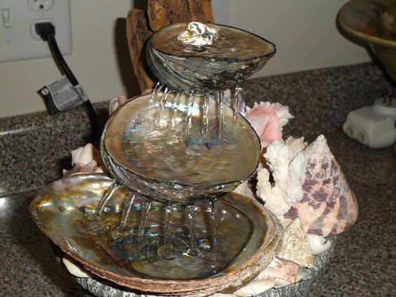 Abalone Shell Water Fountain