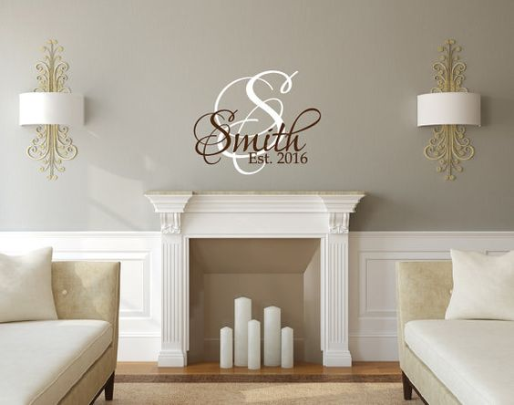 Personalized Family Name Decal Family Monogram by NewYorkVinyl