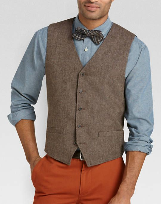 Aaron's brown tweed vest (and the groomsmen's vest). Groomsmen ...