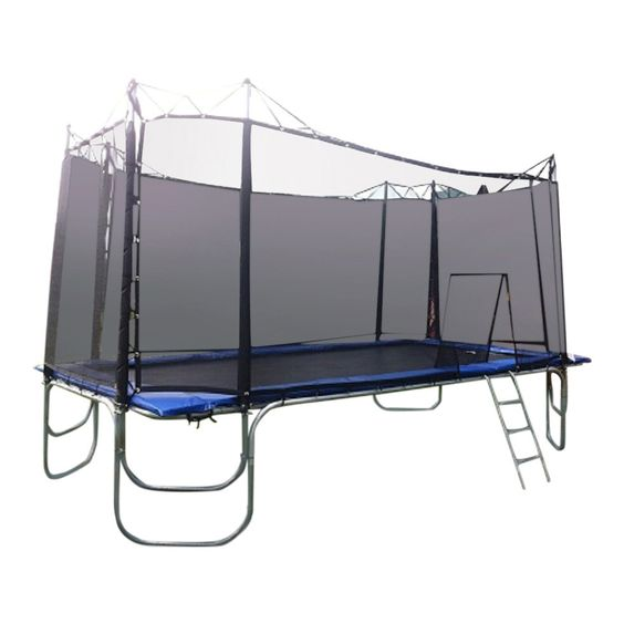 "10x17 ""Texas Star"" Trampoline with ""THE TEXAS CAGE"" Enclosure. The 10x17 ""Texas Star"" rectangle trampoline is Texas Trampoline's most popular trampoline (98 Square Feet of jumping surface) and the siz"