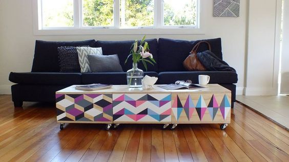Cool coffee table, adjust colours a bit