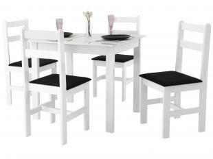 Conjunto de Mesa com 4 Cadeiras Milão - Fritz Móveis