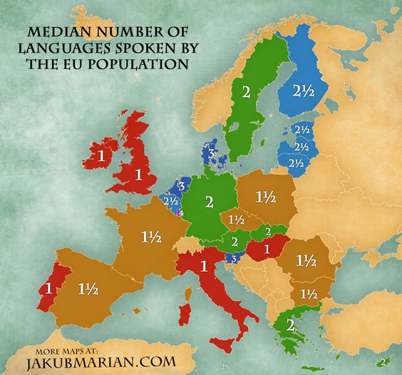 Leadership Skills Multiply With Language Skills – Map of Northern Europe Countries