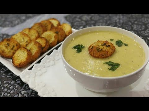وجبة عشاء سهلة وسريعة التحضير شوربة البطاطس لذيذة مرافقة بالخبز المحمص مع شهيوات امال Youtube Recipes Food Chowder