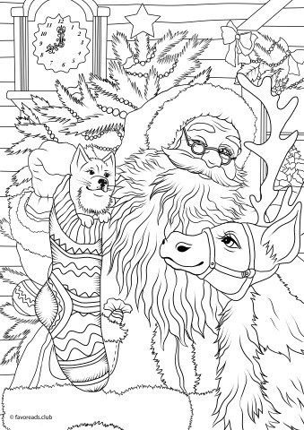 Santa S Workshop Christmas Coloring Sheets Coloring Books