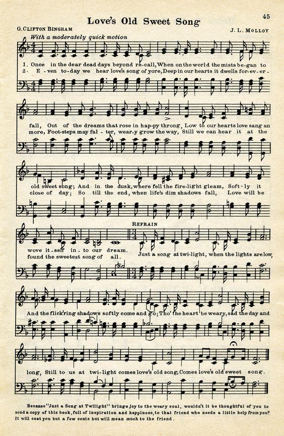 Old Design Shop ~ free digital image: Loveu0026#39;s Old Sweet Song vintage ...