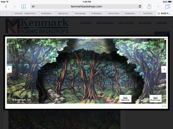 The backdrop and legs we used from Kenmark.