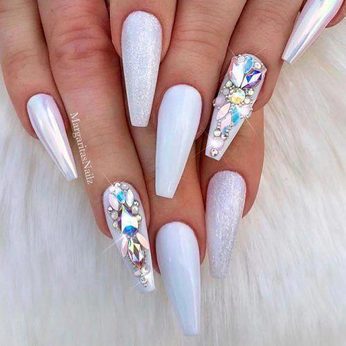 Soft White Long Acrylic Nails Coffin Shape Margarita Long Acrylic Nails Coffin Long Acrylic Nails Acrylic Nails Coffin