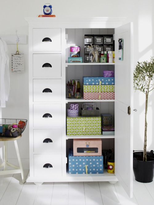 storage: Office Ideas, Home Office, Room Ideas, Craftroom, Organized Closets, Storage Ideas, Craft Storage, Craft Rooms