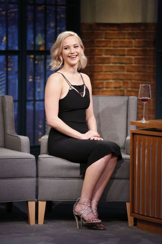 JENNIFER LAWRENCE at Late Night with Seth Meyers in New York 12/15/2015