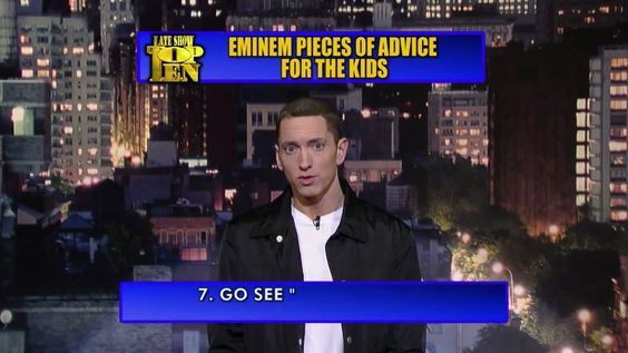 Eminem's top 10 pieces of advice for kids