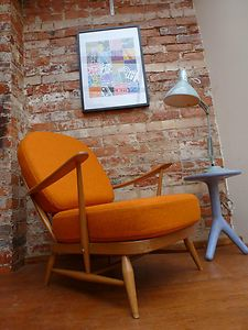 60's Ercol Windsor - i own 2 of these one day they will look this good and i will have somewhere to put them!