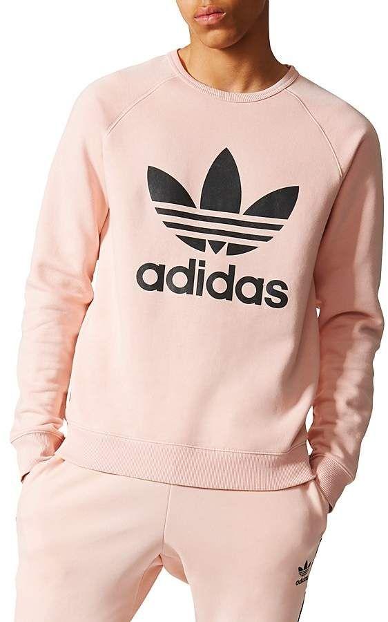 Adidas Trefoil Logo Crewneck Sweatshirt Sweatshirts Mens Sweatshirts Crew Neck Sweatshirt