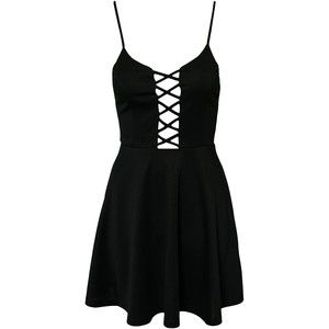 Club L Criss Cross Detail Skater Dress