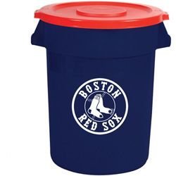 Team Brute Brute 32 Gal Red Sox Trash Container with Lid #Restockit