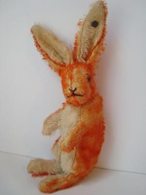 "Rare Antique 1920s Steiff Orange Mohair Bunny Rabbit FF Button 7"" Teddy Bear"
