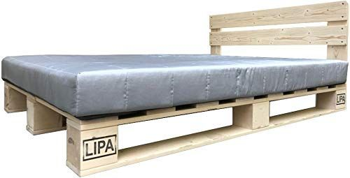 Lipa Palettenbett Mit Kopfteil Massivholzbett Paletten Bett Holz 90 100 120 140 160 180 200 X 200cm Hergestellt In Palettenbett Bett Holz Massivholzbett