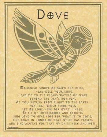 "Dove Prayer poster-AzureGreen- (""I saw 6 Doves this 'mourning' on the fence""):"
