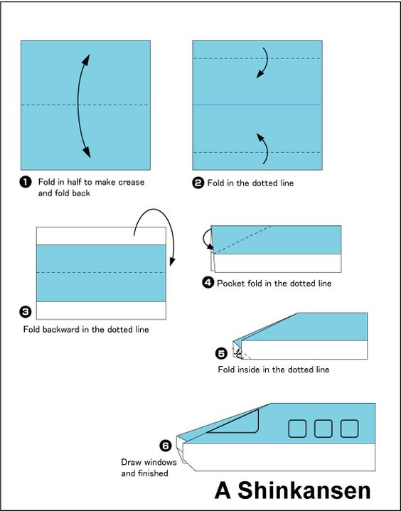 easy origami train google search school projects