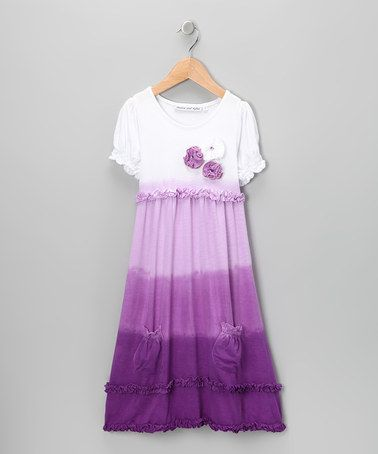 Take a look at this Purple Ombré Rosette Dress - Infant, Toddler & Girls by Danica and Dylan on #zulily today!