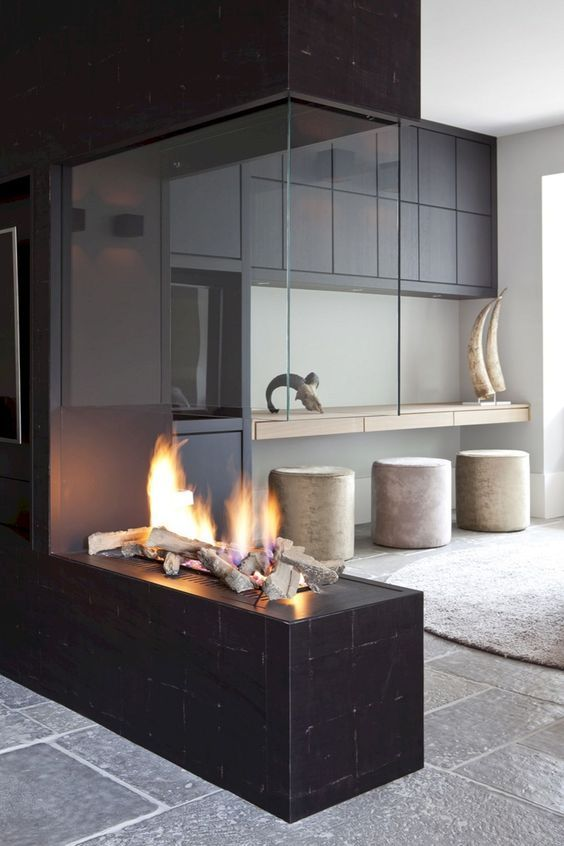 50 Modern Fireplace Ideas Best Contemporary Fireplaces 2020