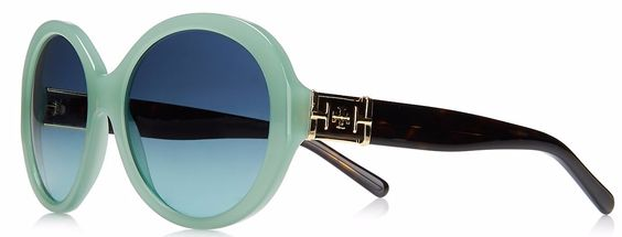 Mint and Black Glam Sunglasse