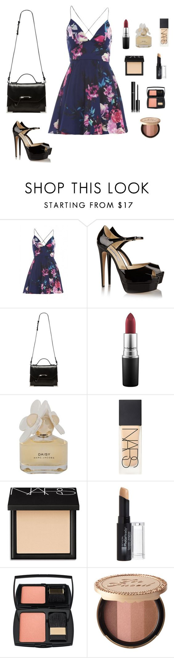 """""""M"""" by butnotperfect ❤ liked on Polyvore featuring AX Paris, Brian Atwood, Mackage, MAC Cosmetics, Marc by Marc Jacobs, NARS Cosmetics, Revlon, Chanel, Lancôme and Too Faced Cosmetics"""