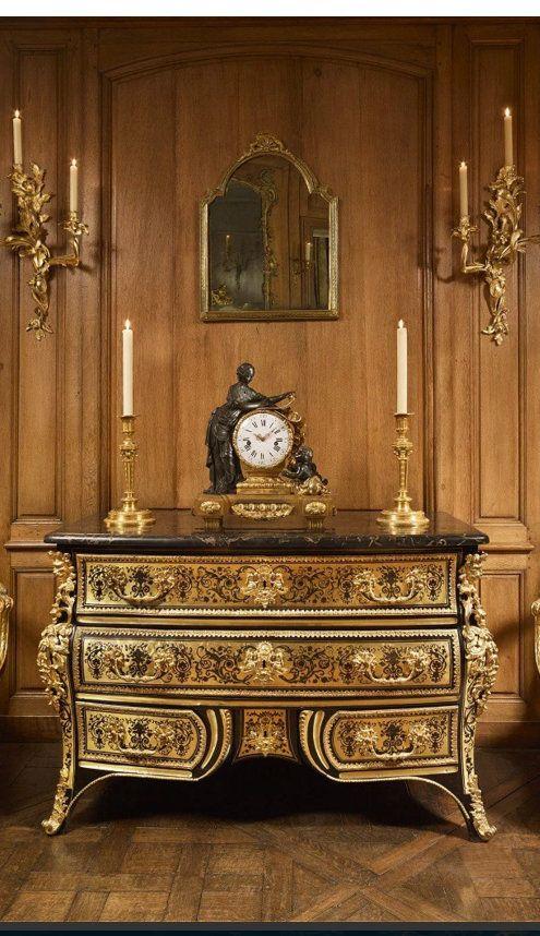 Commode en marqueterie Boulle, marquée F.L. (pour François Lieutaud), Fin de l'époque Louis XIV – Régence), Galerie François Léage: