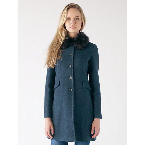 Buy Jigsaw Winter Herringbone Princess Coat Teal Online at