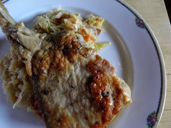 Pork Chops and Sauerkraut in the Crock Pot-great article that goes ...