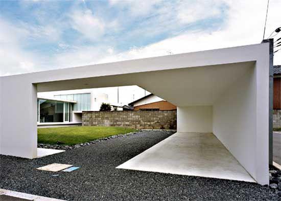 Garage mit carport modern  Minimalist carport modern | Carport / Garage / Hütte | Pinterest ...